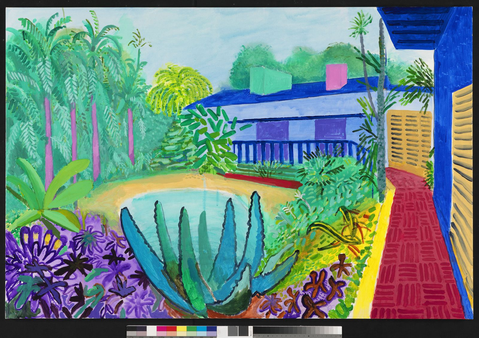 """Garden"", 2015 - 2016 de David HOCKNEY - Photo Richard Schmidt"