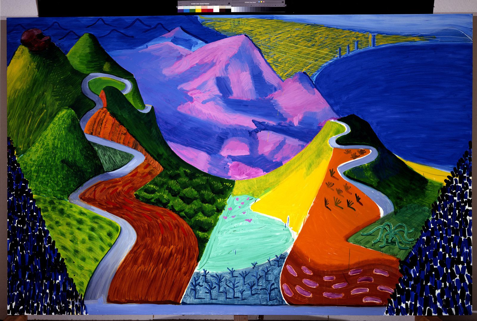 """Pacific Coast Highway and Santa Monica"", 1990 de David HOCKNEY - Photo Steve Oliver"
