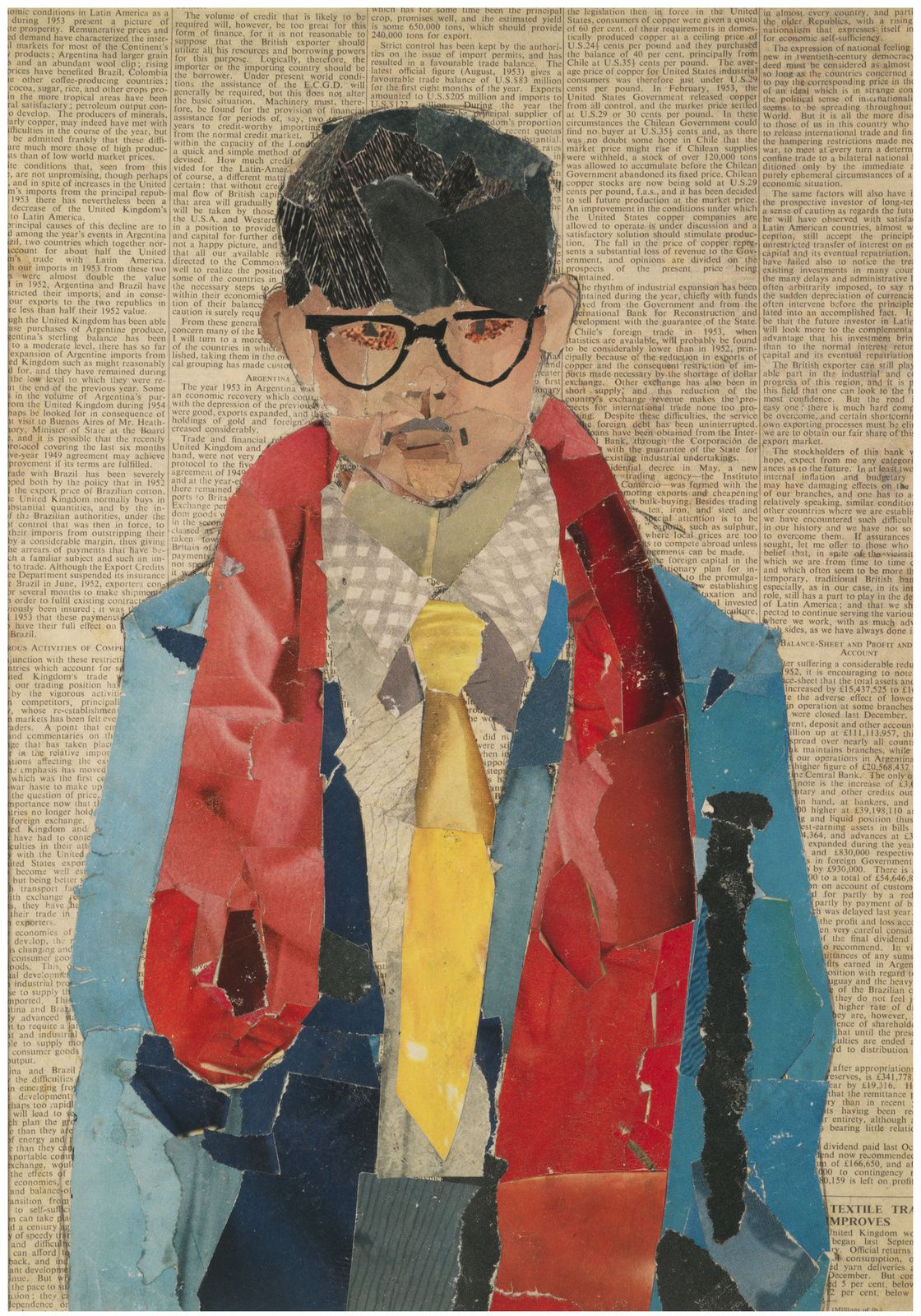 """Self-Portrait', 1954 de David HOCKNEY - Courtesy Bradford Museums and Galleries"