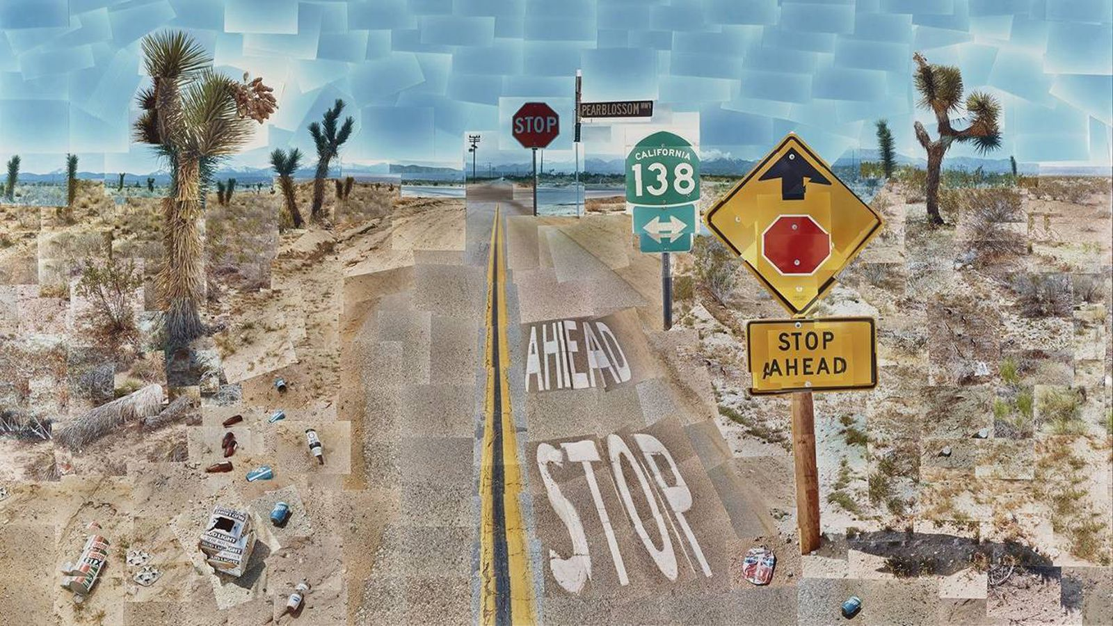 Pearblossom Hwy. 11–18th April 1986, #1, 1986 de David HOCKNEY - Courtesy The J. Paul Getty Museum, Los Angeles