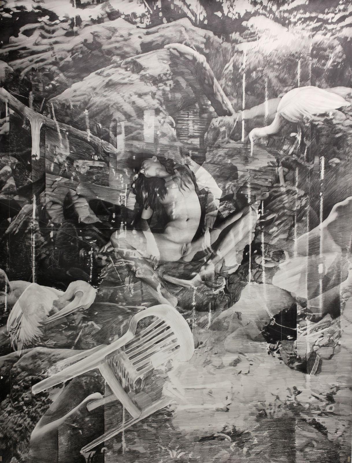 """Melancholia"", 2017 de Tim PLAMPER - Courtesy Galerie SUZANNE TARASIEVE  © Photo Éric Simon"