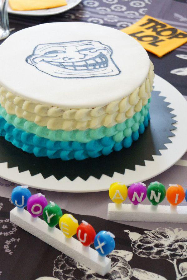 Bien-aimé Le gâteau troll de l'ado pas geek - La faim des bananes RB54