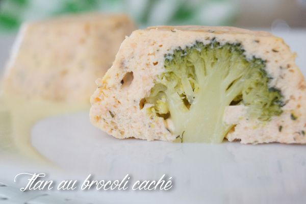 Les flans aux deux saumons et brocoli inside