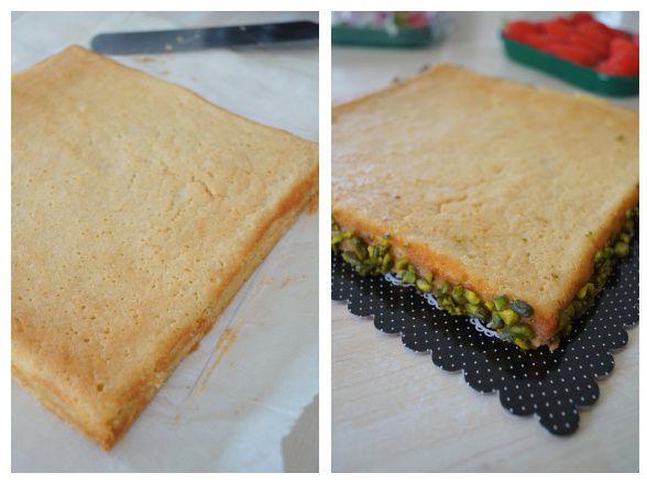 La tarte aux fraises pistache de Séverine Michalak