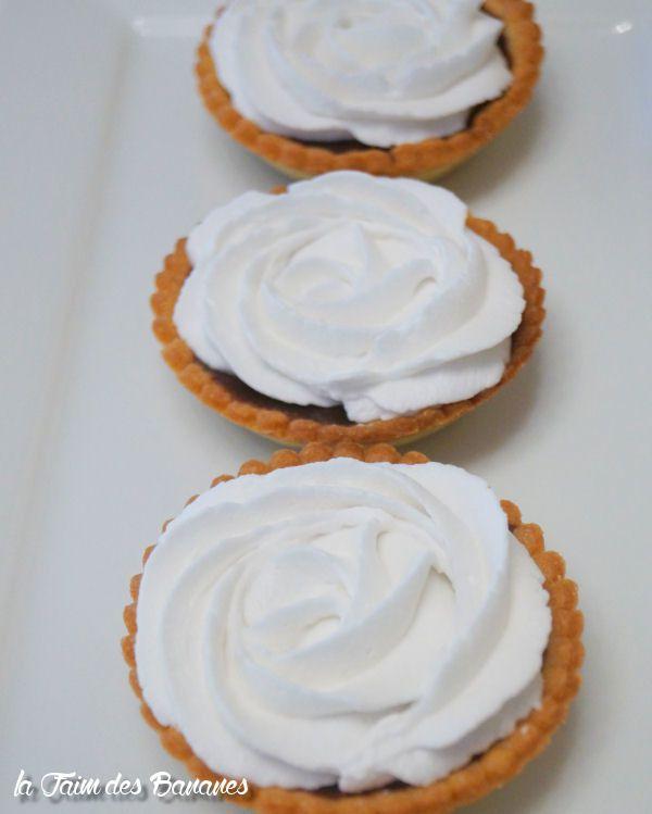 Les tartelettes choco/chantilly coco à la crème coco