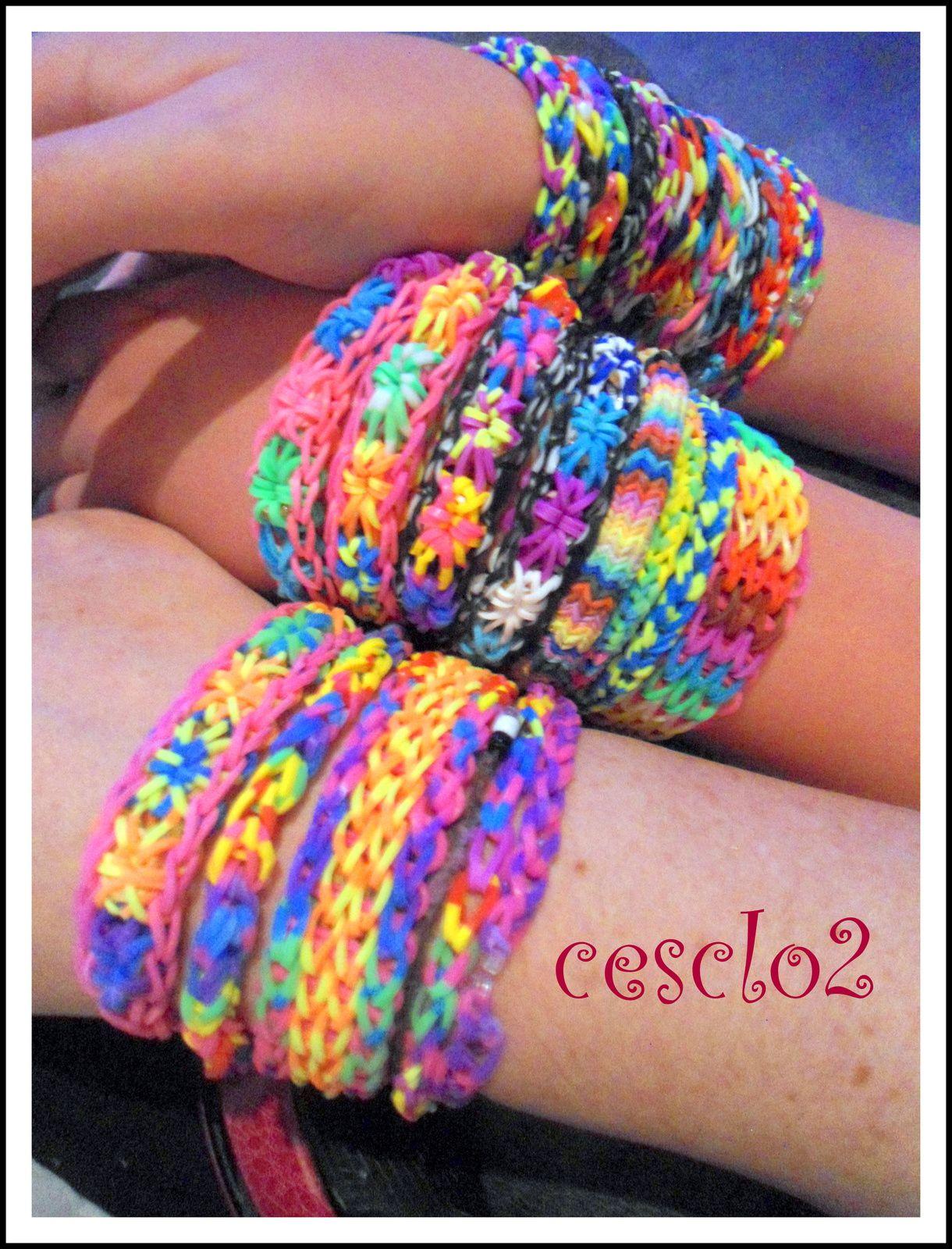 Les bracelets aux élastiques