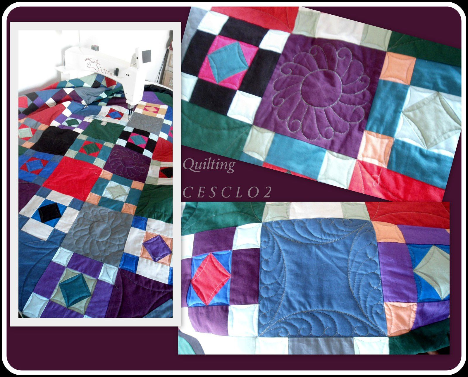 Vue progressive du quilting Amish