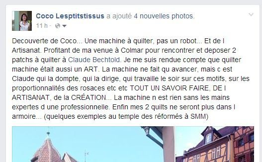 Bel article de coco