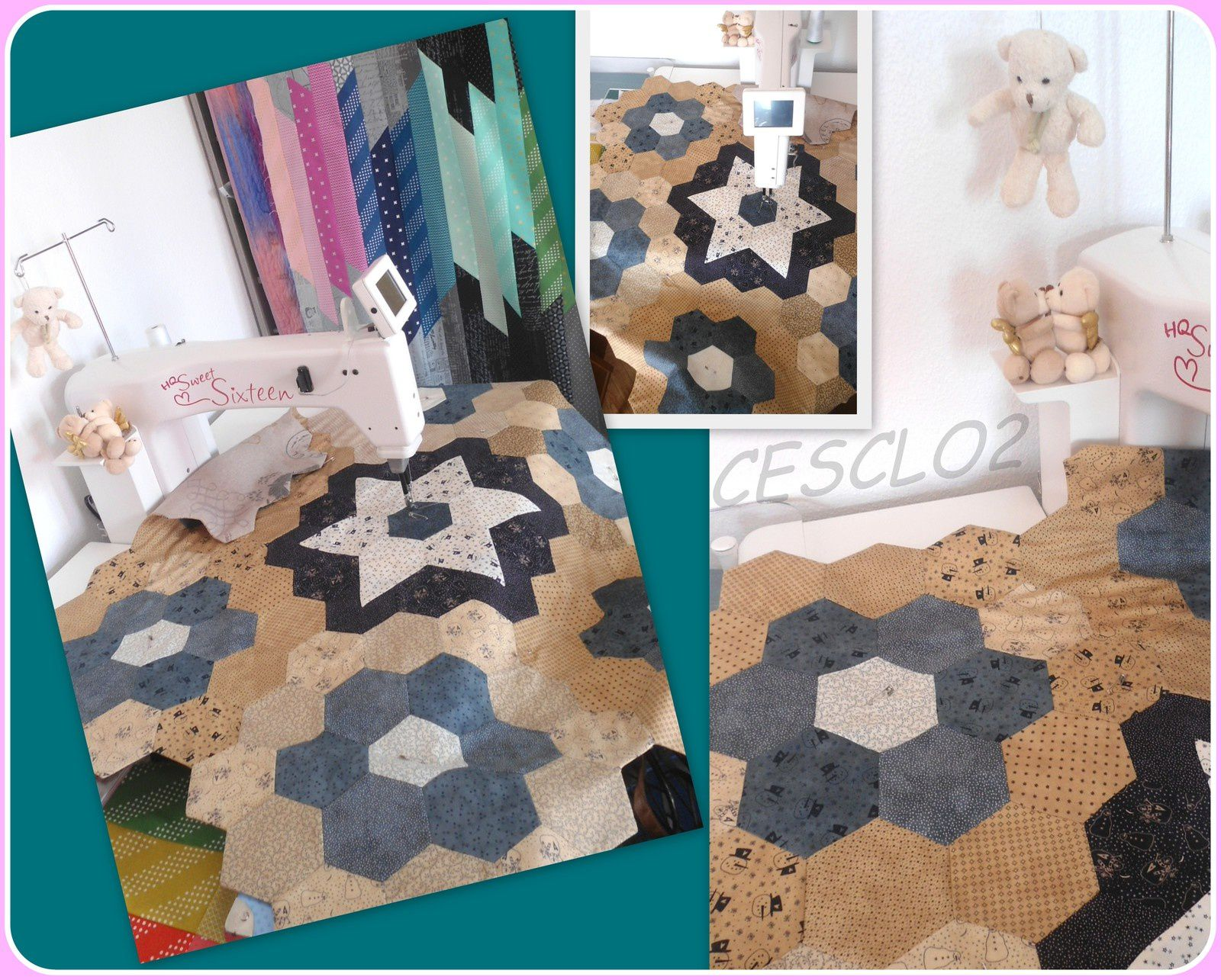 Hexagones en mode quilting