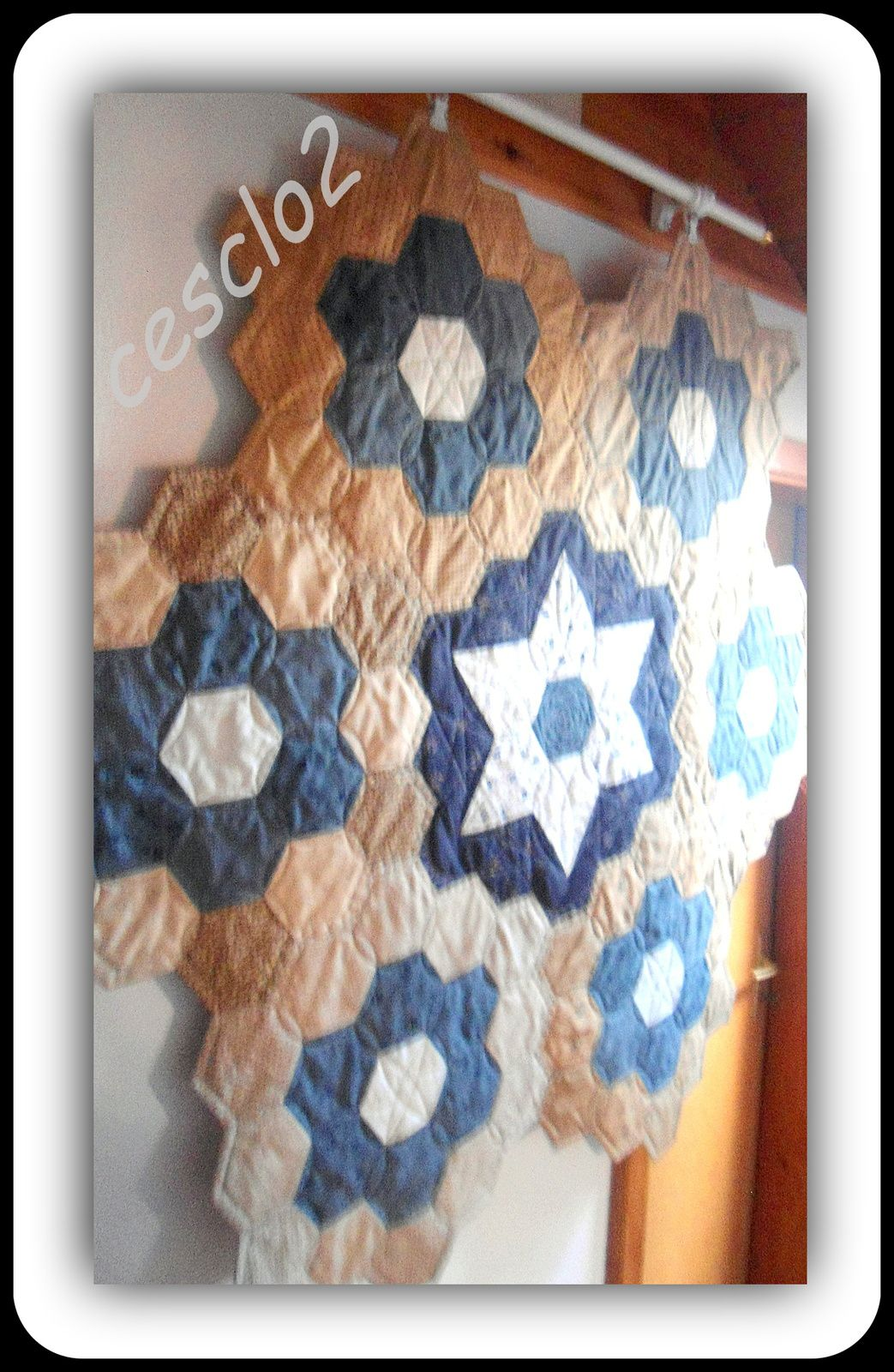 Mon top hexagones terminé