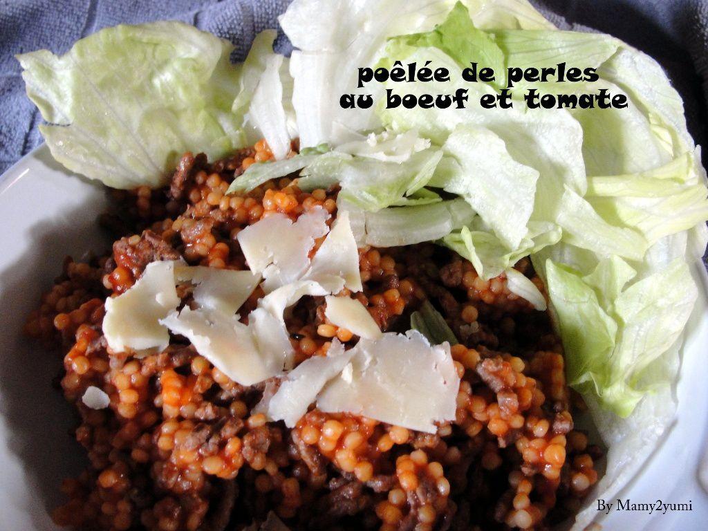 perles au boeuf et tomates-Mamy2yumi.