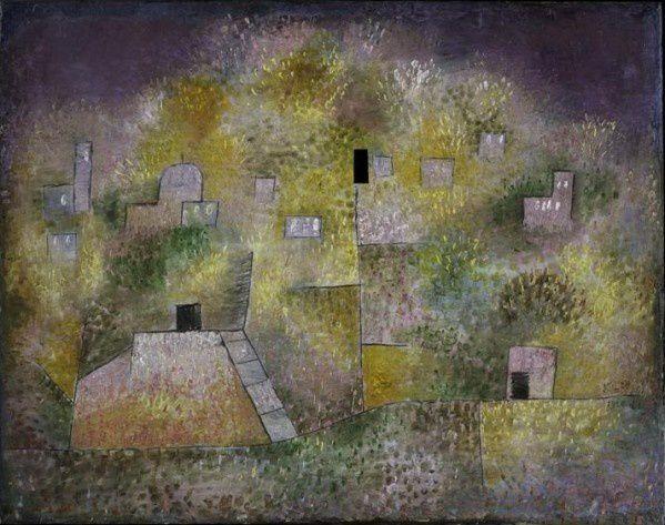 Titre original : Scene aus Kairuan Jardin des délices orientaux Paul Klee 1925