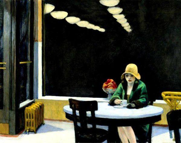 Édouard Hopper, Automat71,4x91,4cm Des Moines Art Center, Des Moines