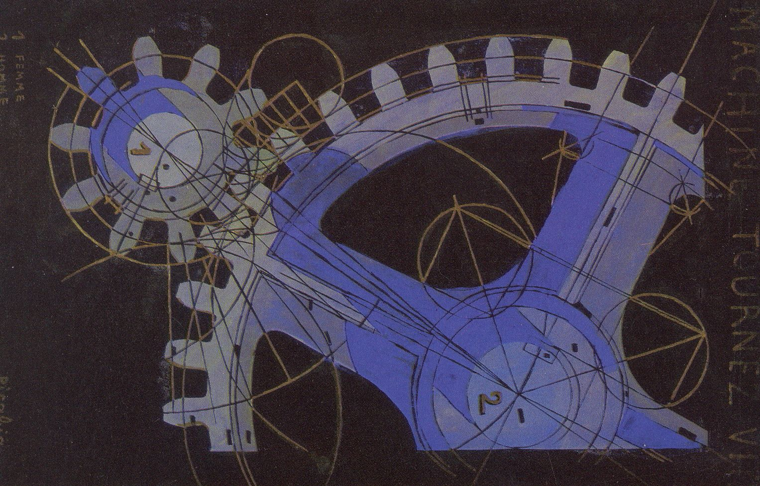Picabia. Machine à transformer rapidement (1916)  Tempera sur papier, 49 × 32 cm, collection privée.