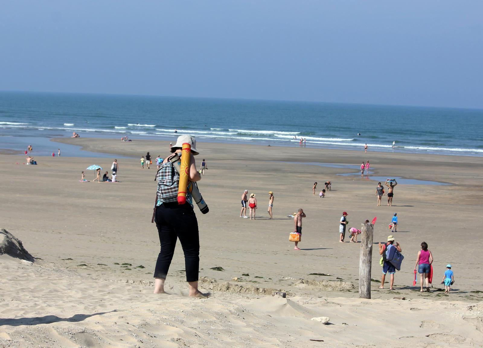 La plage naturiste de Saint-Trojan. Eté 2014.