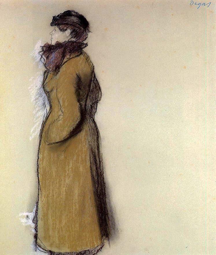 Femme dans la rue. Degas. 1879. (Ellen Andrée)M