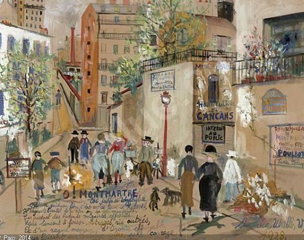 Avenue Junot. Maison de Poulbot. Utrillo.