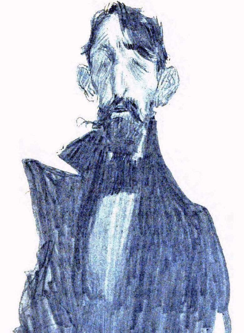 Jehan-Rictus par Léandre.