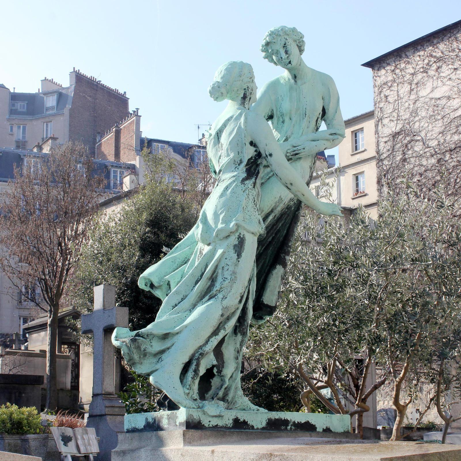 """Cimetière Saint-Vincent. Montmartre. (1). Les """"célébrités""""- Marcel Aymé-Harry Baur-Eugène Boudin-Marcel Carné et Roland Lesaffre-Jules Chéret-Dorgelès-Dumesnil-Arthur Honegger-Steinlen-Utrillo."""