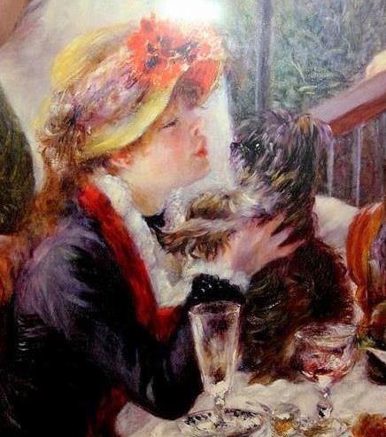 Aline Renoir, modèle pour les Canotiers.