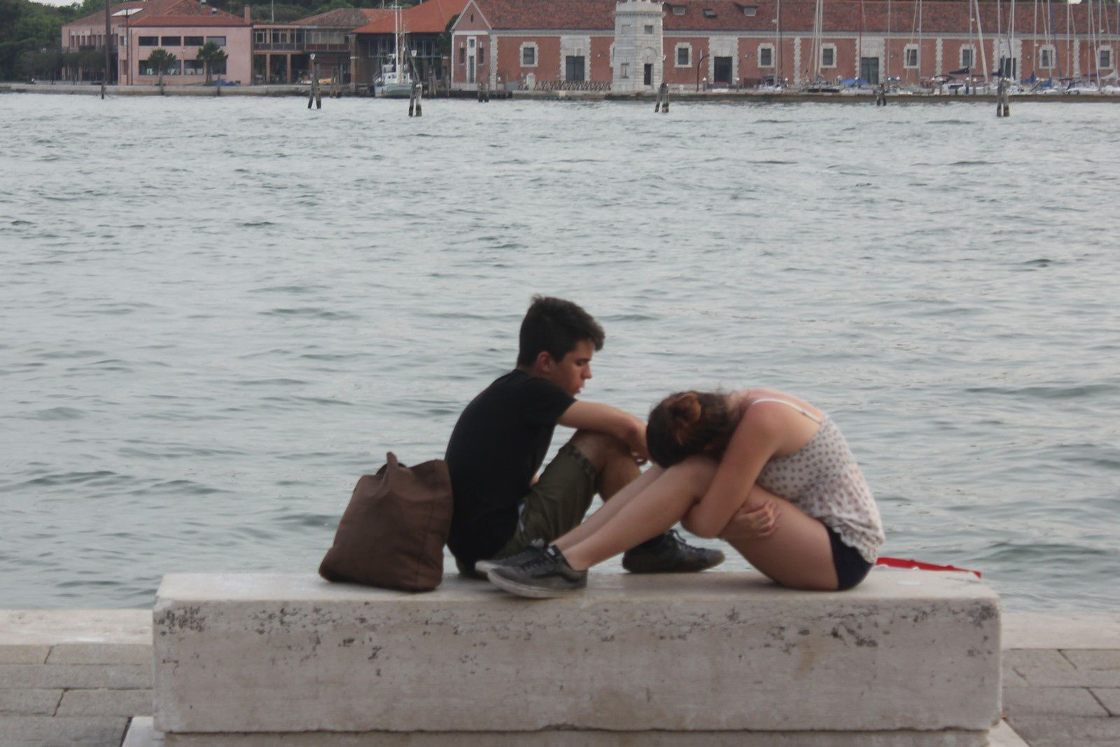Venise. Passants. Photos