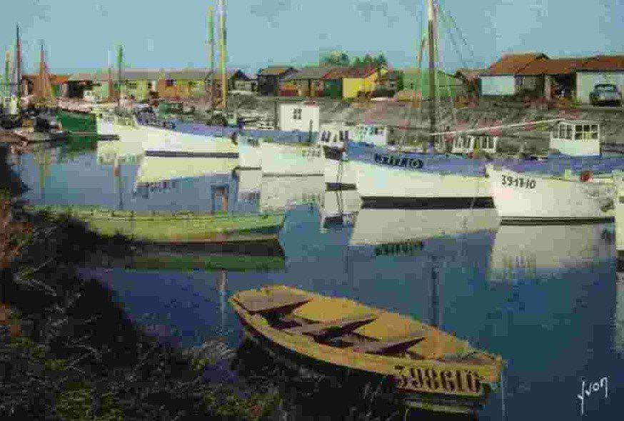 Le port de Saint-Trojan. Oléron.