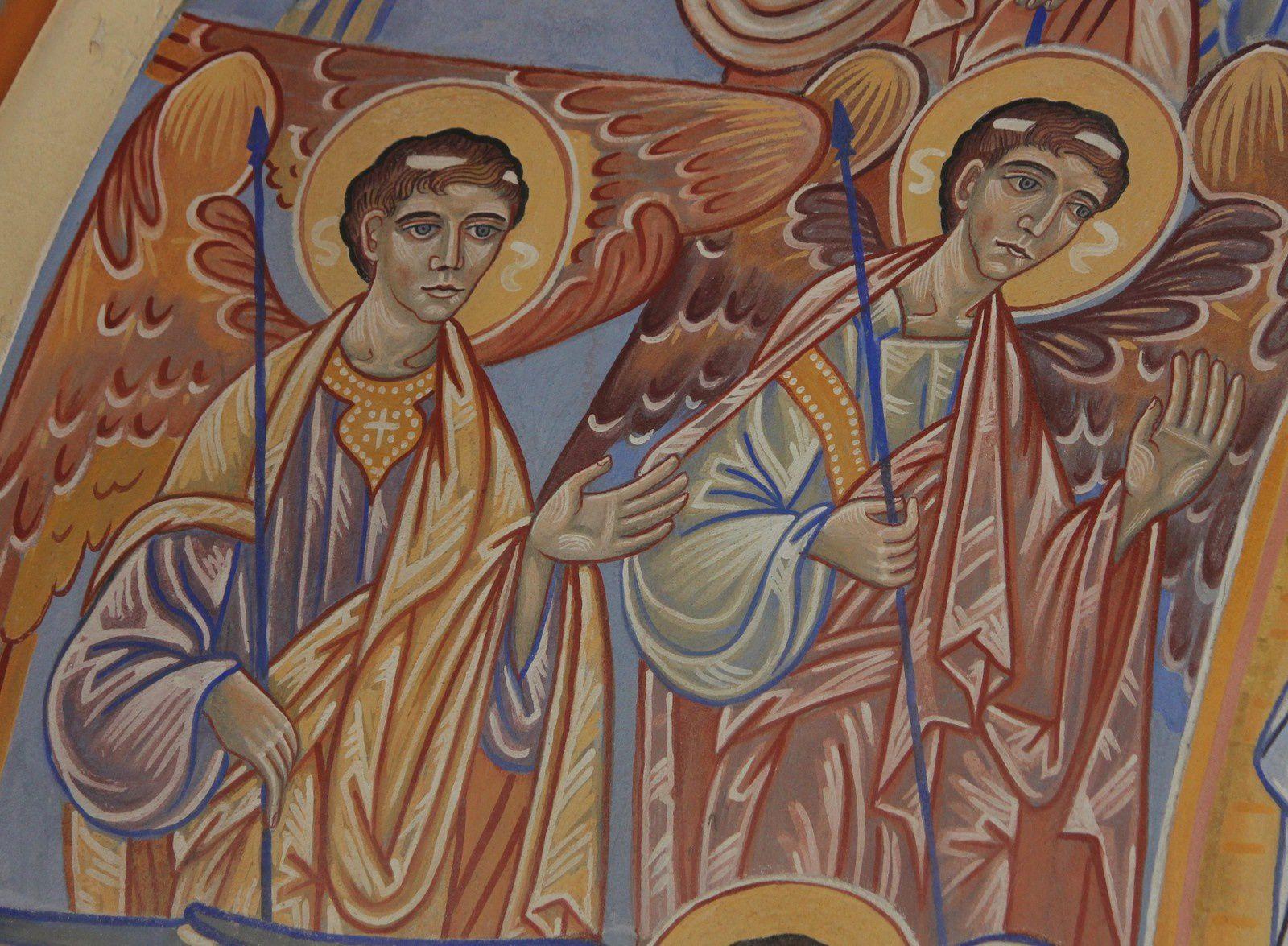 Les anges de Nicolas Greshny. Eglise de Saint-Pierre. Oléron.