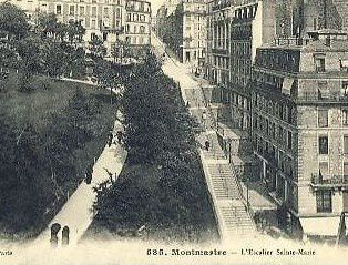 L'escalier Sainte-Marie et la rue Paul Albert