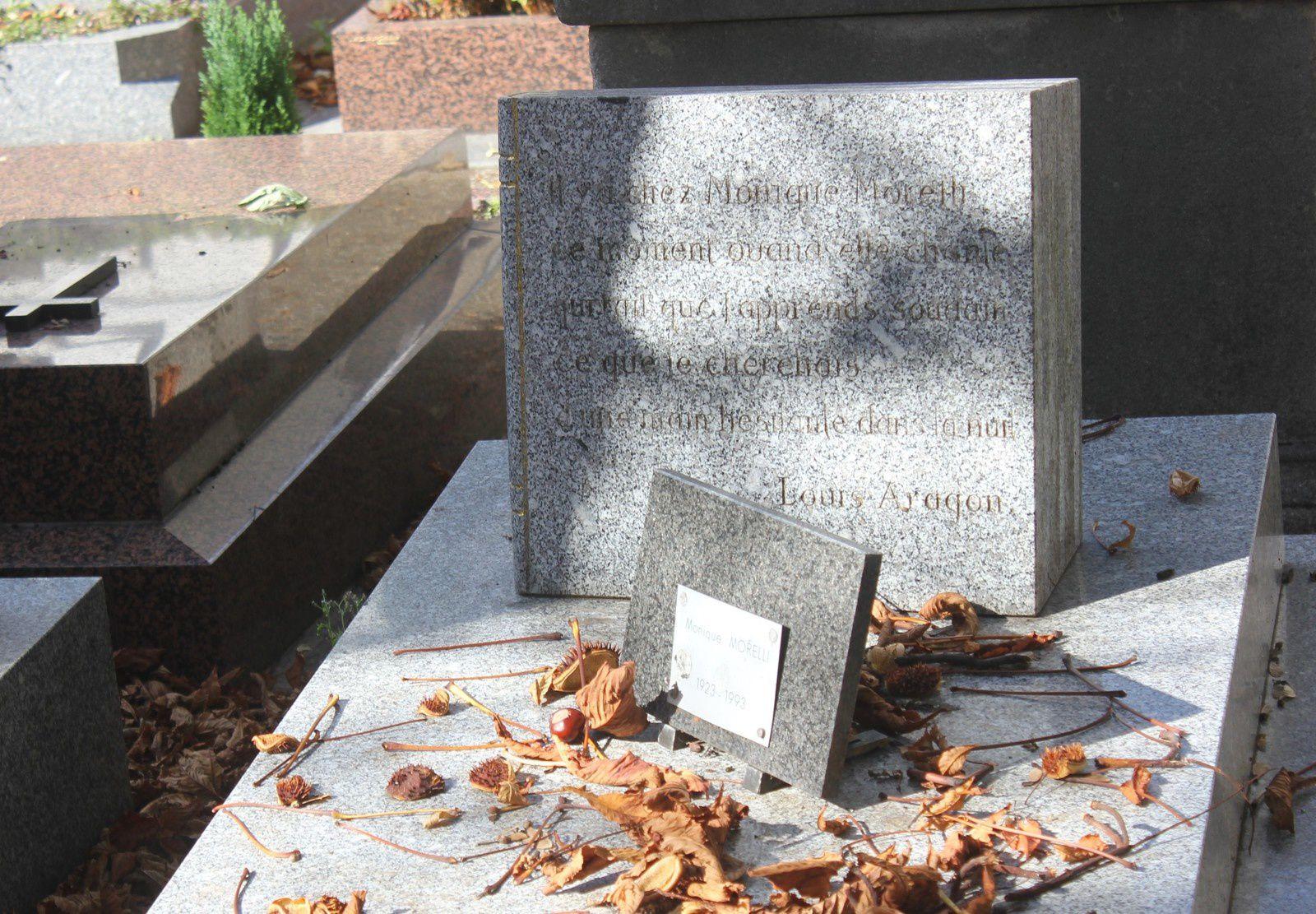 Tombe de Monique Morelli au cimetière Montmartre.