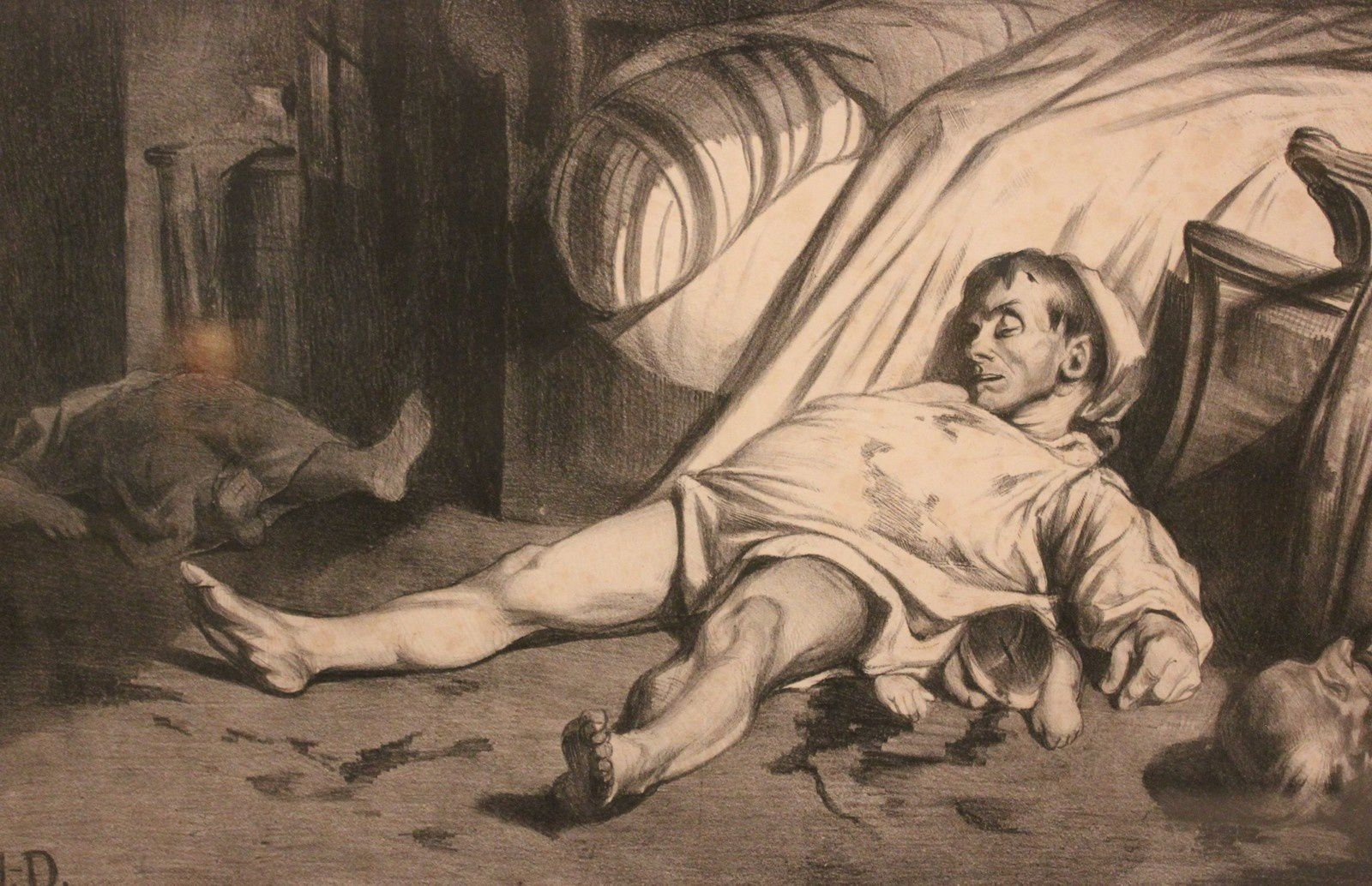 Saumier. 1808-1879. Rue Transnonain 15 avril 1834.