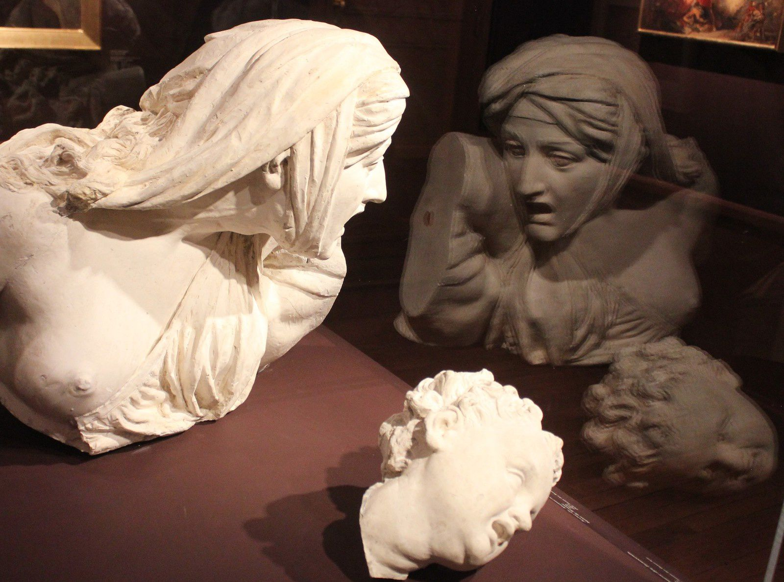 Jean Pierre Victor Huguenin. 1802-1860. Scène du massacre des innocents. Plâtre.