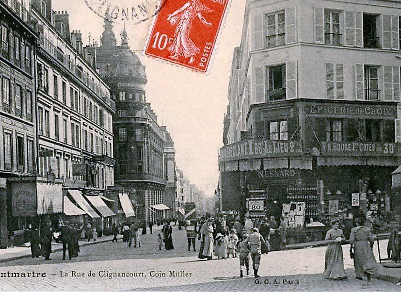 Intersection Clignancourt, Muller et Ramey....