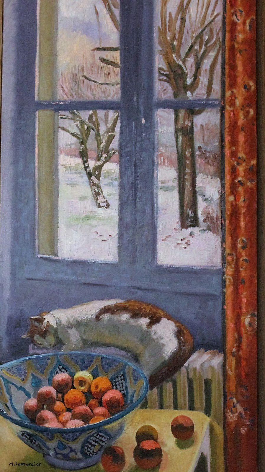 Michèle Lemercier.  Rue Poulet. Montmartre. Fresques.