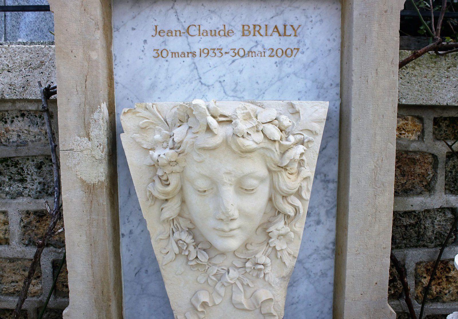 Tombe de Jean-Claude Brialy. Cimetière Montmartre.