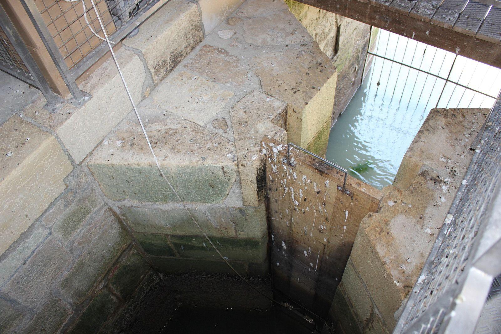 La trappe d'arrivée d'eau