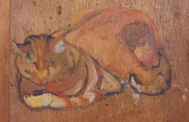 Etude pour le chat Raminou (Valadon) 1917