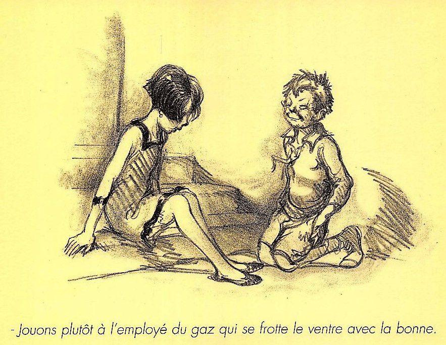 Illustration de Poulbot pour la Société du Cornet 1932