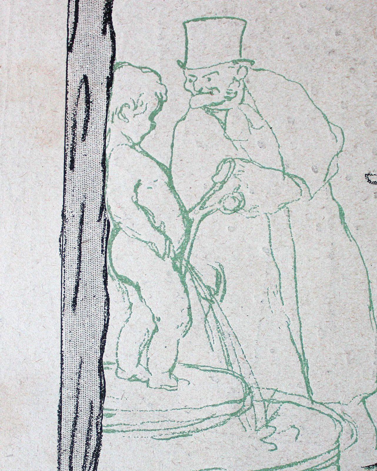 Détail de la caricature de Savignol dans le numéro 372. Bérenger coupeur de sexe!