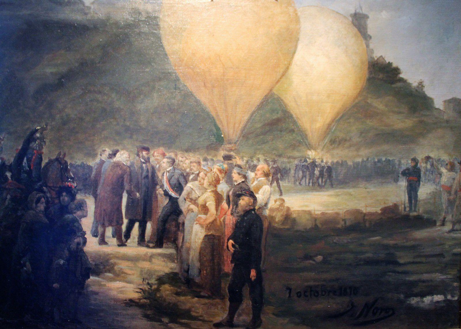 Le même événement peint par Noro (musée de Montmartre)