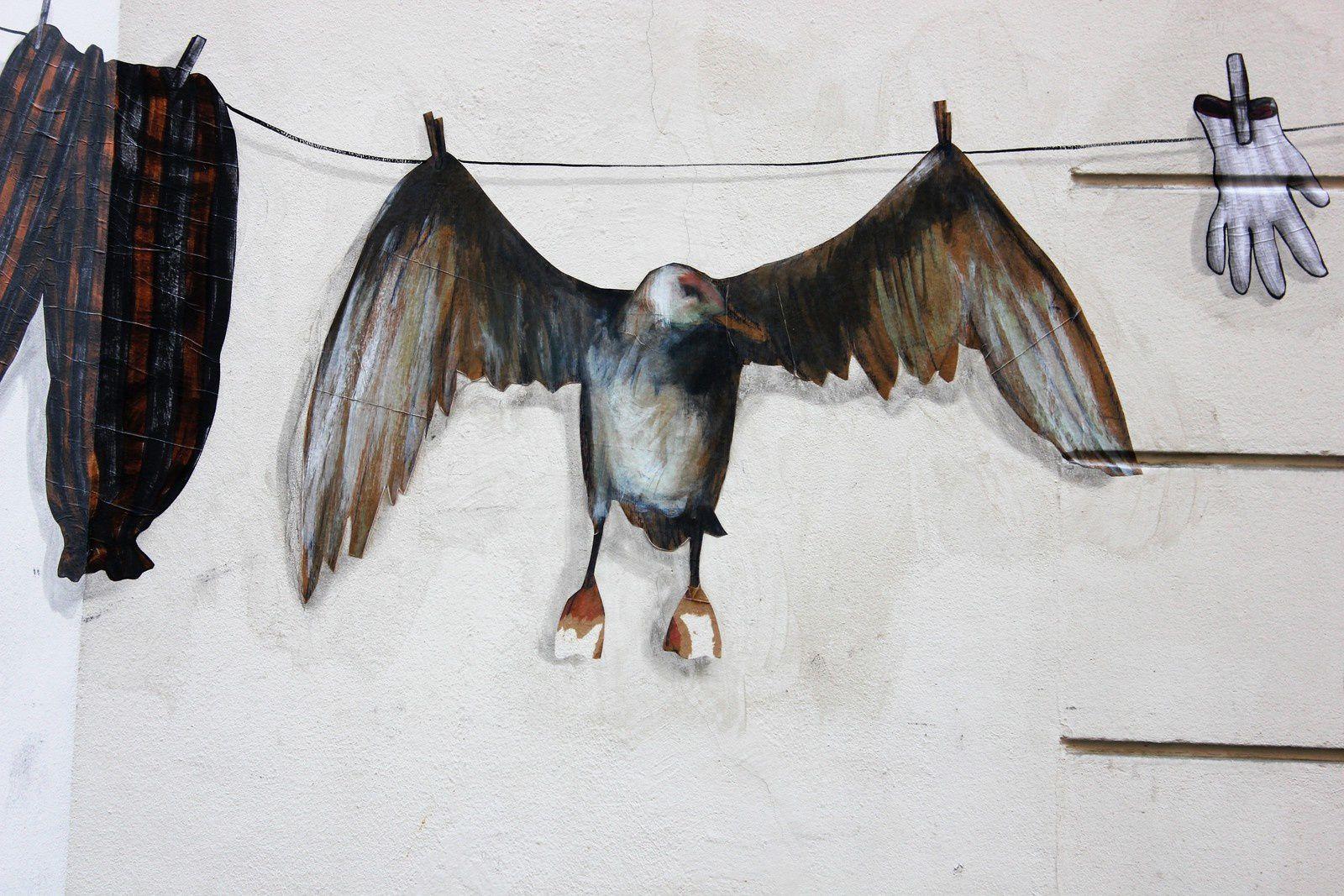 Street Art. Rue Véron. Levalet. Philippe Hérard. Décembre 2016. (II)