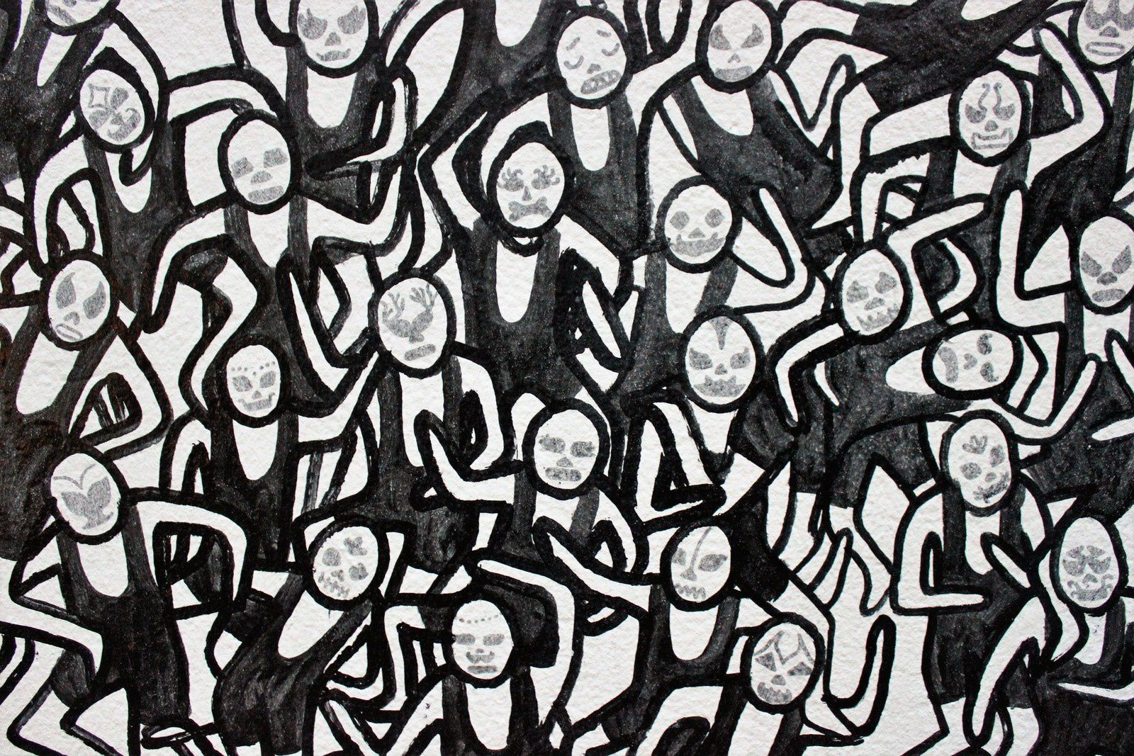 Street Art à Montmartre. (III)  Décembre-janvier 2016. Cub. Servoz. Iléa. Codex urbanus.