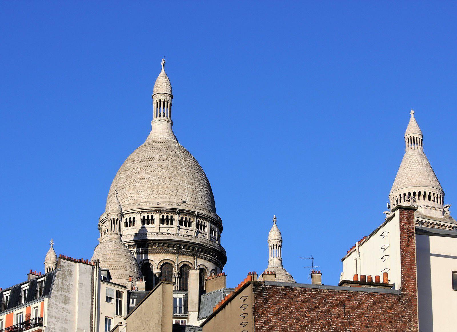 Gens de Montmartre, touristes et passants. Photos. (janvier 2017).