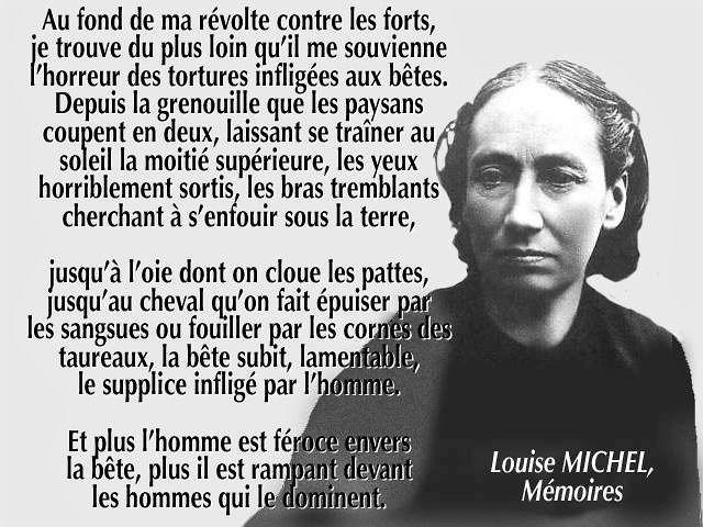 Louise Michel à Montmartre.