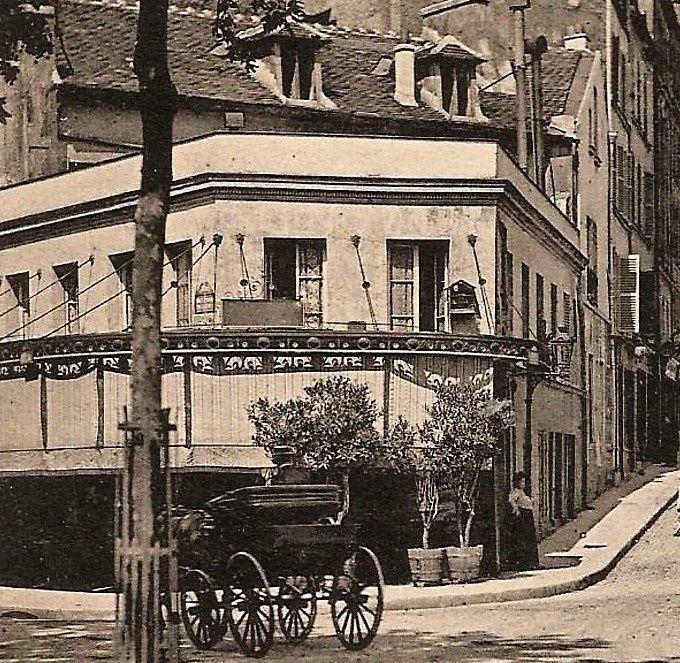 Angle boulevard de Clichy -rue Coustou 1904