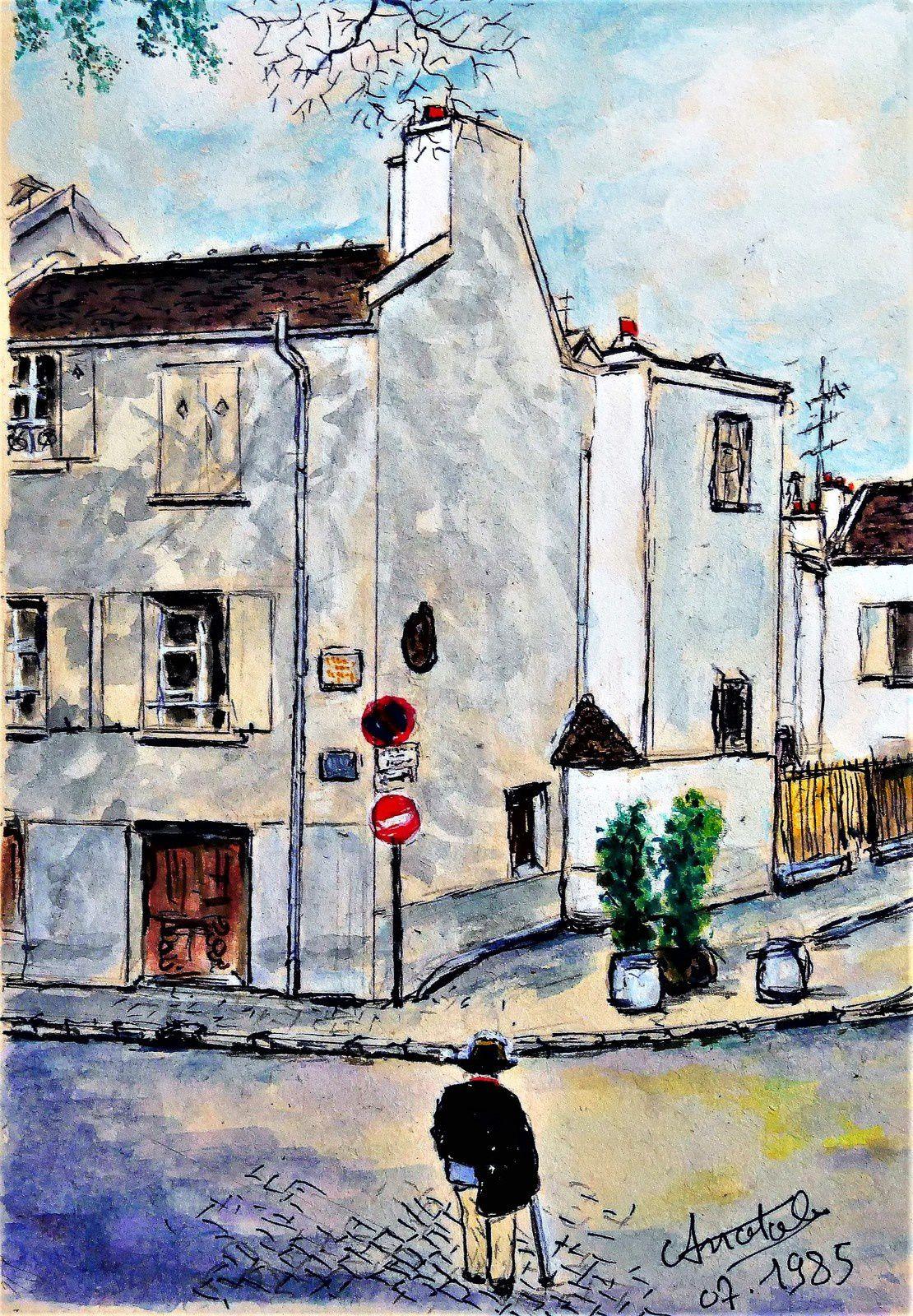 Anatole garde champêtre de Montmartre et peintre