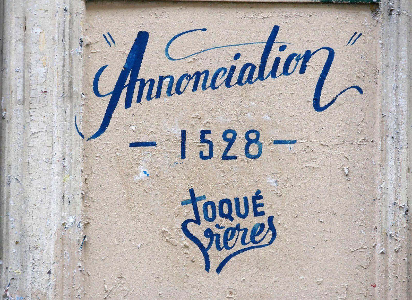 Les frères Toqué. Rue André Del Sarte. Annonciation.