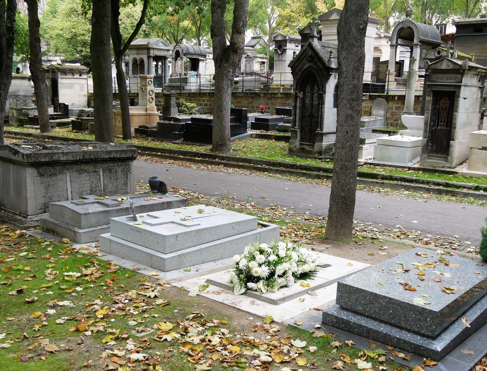 Tombe de Jeanne Moreau. Cimetière Montmartre.