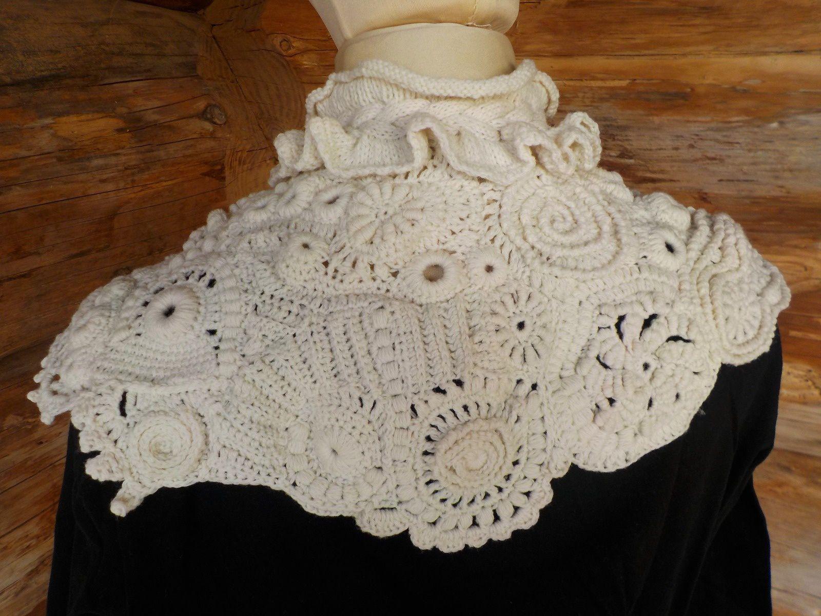 col en crochet et tricot freeform