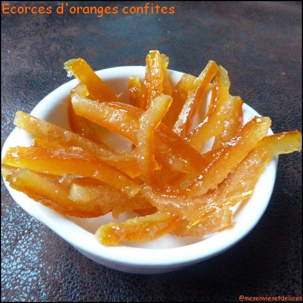 Ecorces d'oranges confites