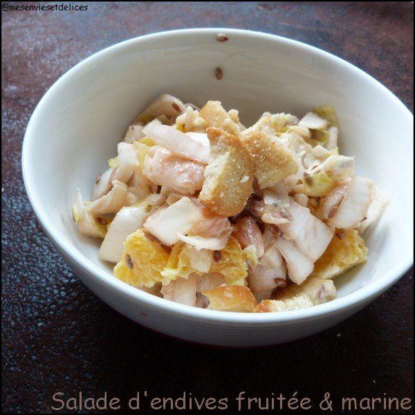 Salade d'endives (ou chicons) marine & fruitée